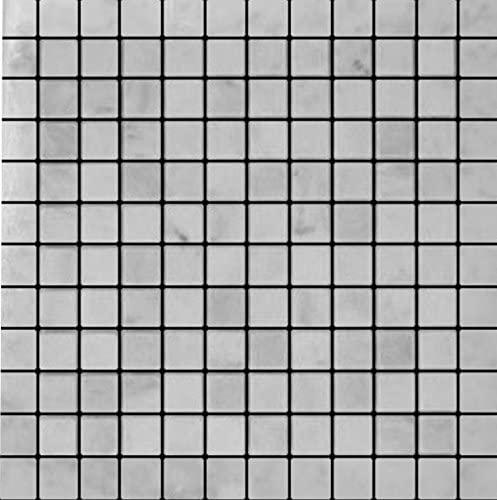 Carrara Marble Italian White Bianco Carrera 1x1 Mosaic Tile Tumbled for Bathroom and Kitchen Walls Kitchen Backsplashes