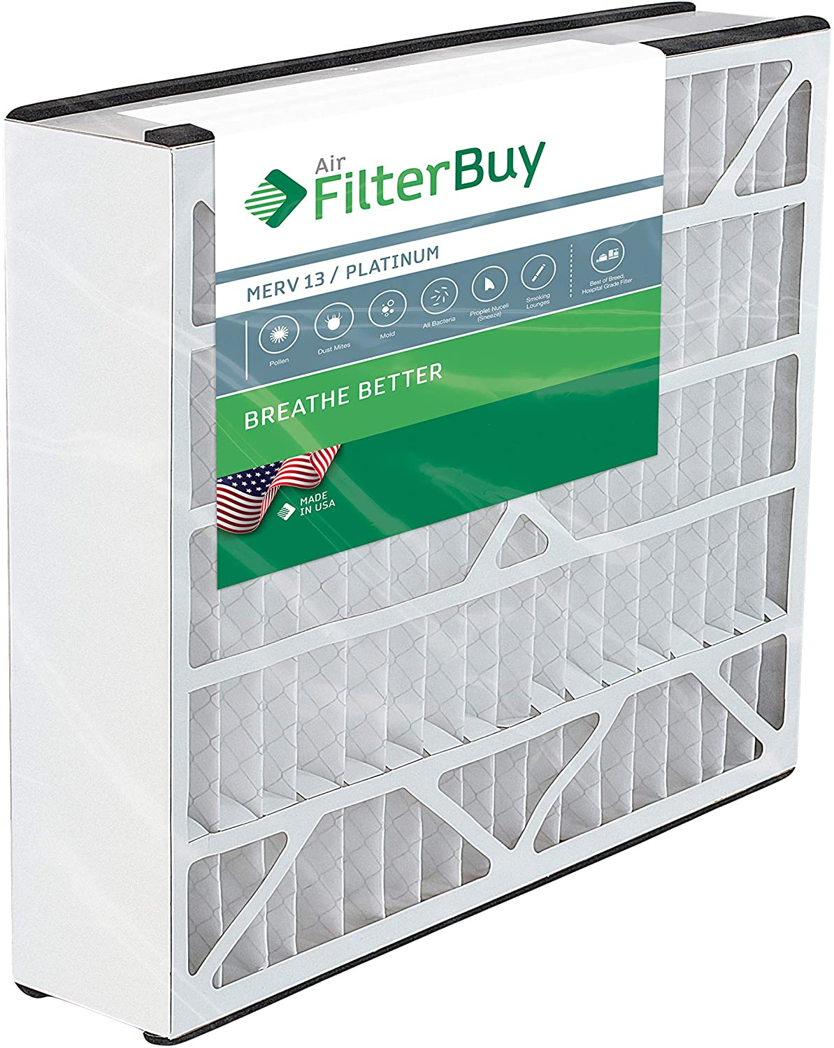 FilterBuy 20x20x5 Air Bear Trion 259112-103 Compatible Pleated AC Furnace Air Filters (MERV 13, AFB Platinum). 1 Pack.