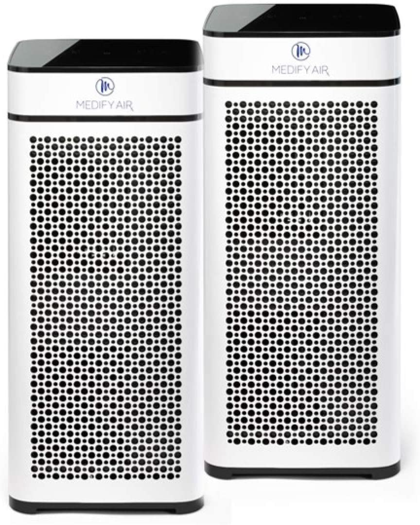 Medify Air MA-40-W2 V2.0 Air Purifier with H13 HEPA filter - a higher grade of HEPA for 840 Sq. Ft. Air Purifier, 99.9% | Modern Design - White (2-Pack)