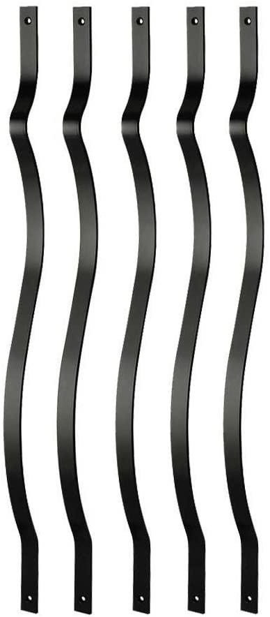 DeckoRail 32-1/4 in. x 1 in. Black Aluminum Contour Baluster (14-Pack)