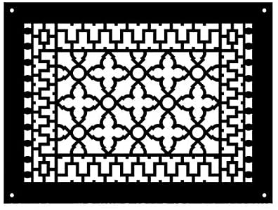 Reggio Register Scroll Series - Cast Iron Metal - Floor Grille 1216-NH (14