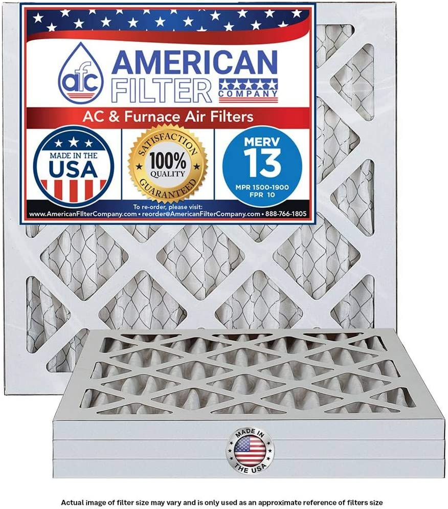 20x20x1 Furnace/AC Filter MERV 13 (4 Packs) Made in the USA by American Filter Company