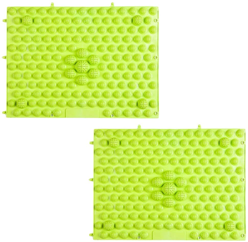 SUPVOX 2pcs Foot Massager Mat Practical Acupressure Massage Mat for Plantar Fasciitis Treatment Pain and Stress Relief