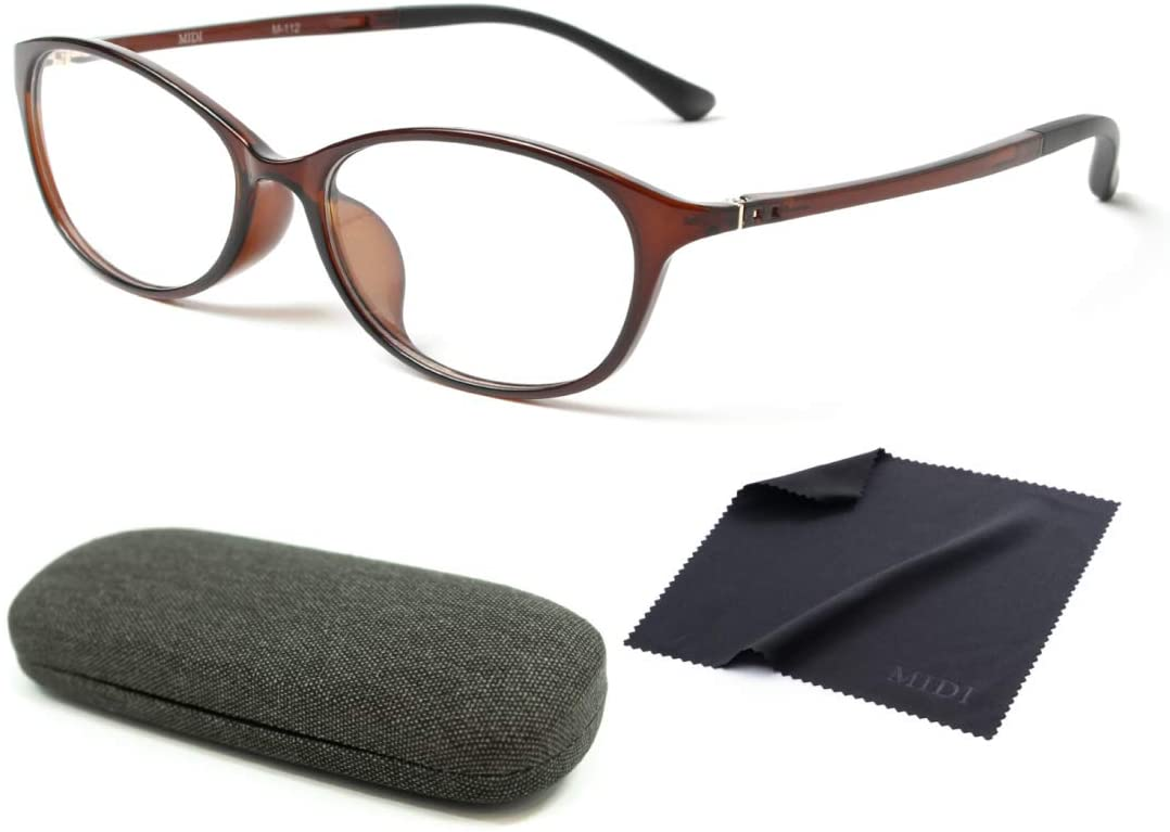 MIDI Home Glasses Nearsighted Glasses Distance Glasses Shortsighted Glasses Women Myopia Shortsightedness Negative Strength (M-112C1) (Sphere (SPH): -1.50, PD: 66mm) (m112c1-150-66)