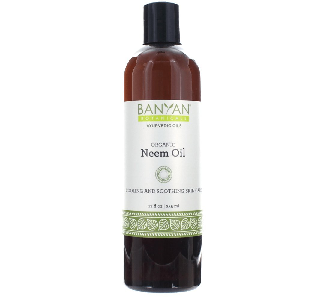 Banyan Botanicals Neem Oil – Pure & Organic Neem Oil – Traditional Ayurvedic Neem Oil That Cools & Soothes – Supports Healthy Skin, Hair, Nails & More – 12oz. – Non GMO Sustainably Sourced Vegan