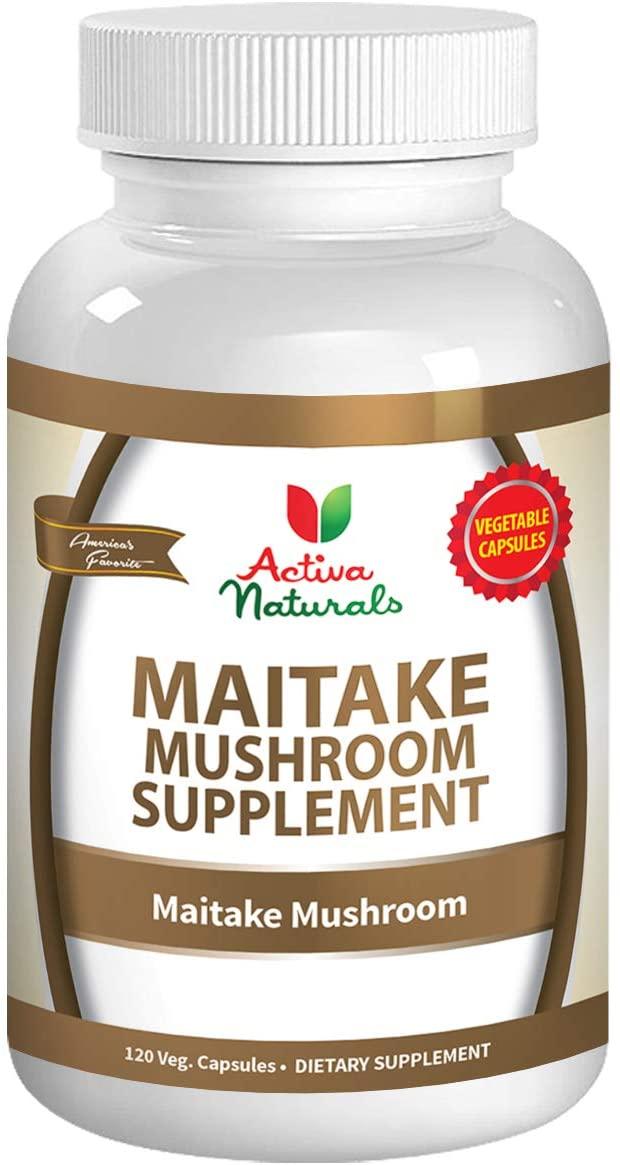 Maitake Mushroom Supplement - 120 Veg. Capsules with Grifola Frondosa Mushrooms