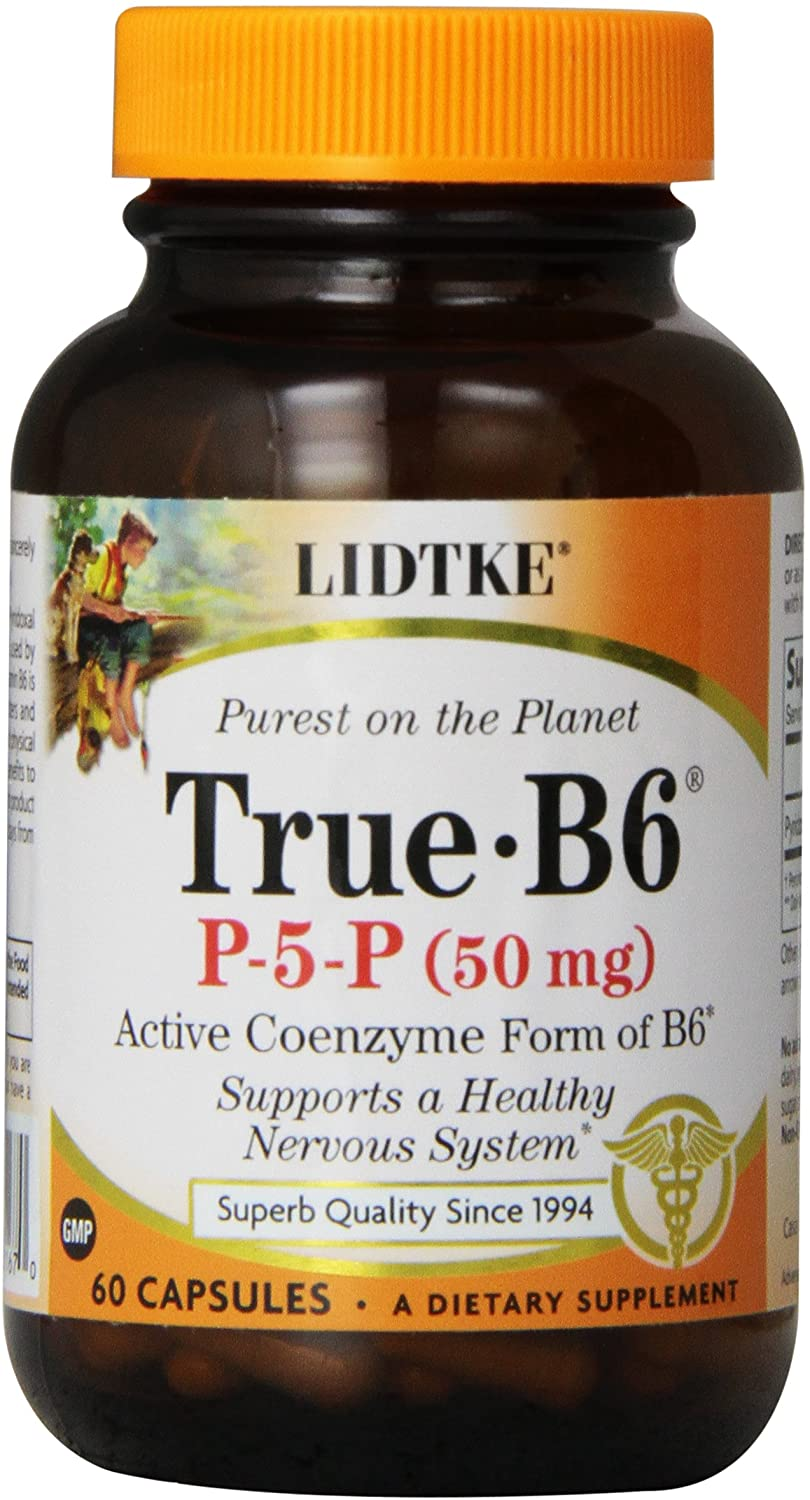 Lidtke Technologies True B6 Capsules, 50 mg, 60 Count
