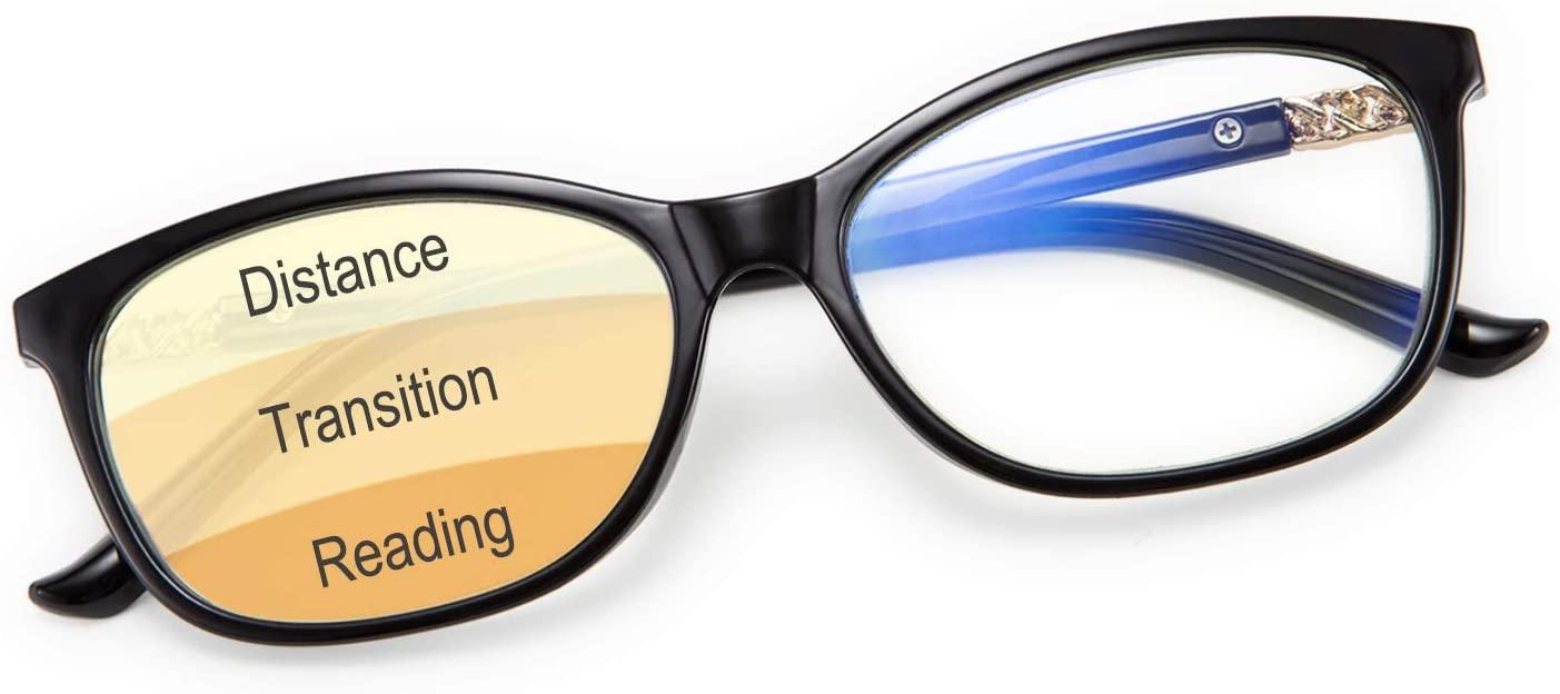 Karsaer Progressive Multifocus Reading Glasses Women Blue Light Blocking Readers No Line Multifocal Computer Glasses