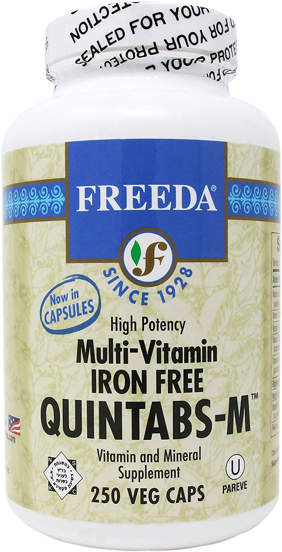 Freeda Quintabs M Iron Free - 250 Veg Caps