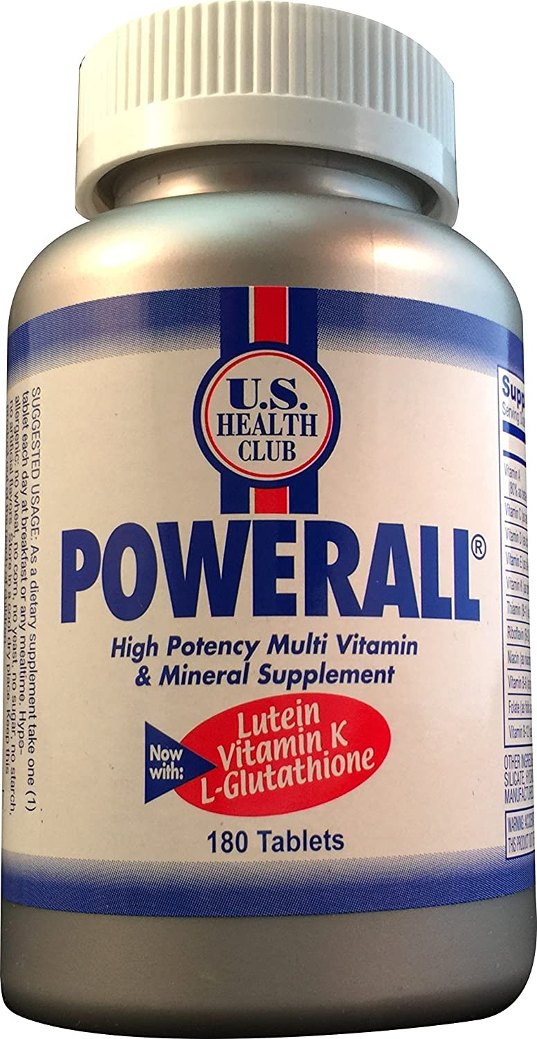 POWERALL® MULTIVITAMIN - A Complete Daily Multivitamin/Multimineral for Adults; Feel Better by Boosting Immunity! Supports Energy, Heart, Eye and Multiple Systems. Feel Better! - (180 Tablet Bottle)