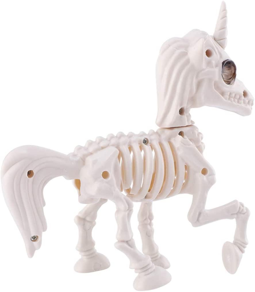 KESYOO Halloween Animal Skeletons Unicorn Skeleton Bonez Party Props Desktop Decoration Halloween Party Supplies