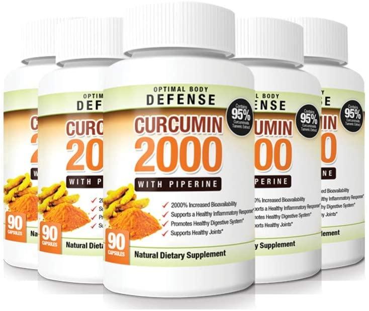 Curcumin 2000 - Healthy Inflammation Supplement - 5 Pack