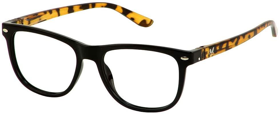 Bunny Eyez Keith Wearable, Tilt-able, Flip-able Guyz Reading Glasses - (Black/Brown Tortoise, 3.00)