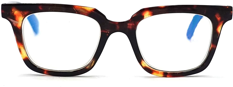 Visual Plus Blue Light Blocking Reading Glasses for Men and Women   Anti Eyestrain, Computer Reading Glasses, Gaming Glasses, TV Glasses for Women and Men (Tortoise Brown, 1.25 Strength)