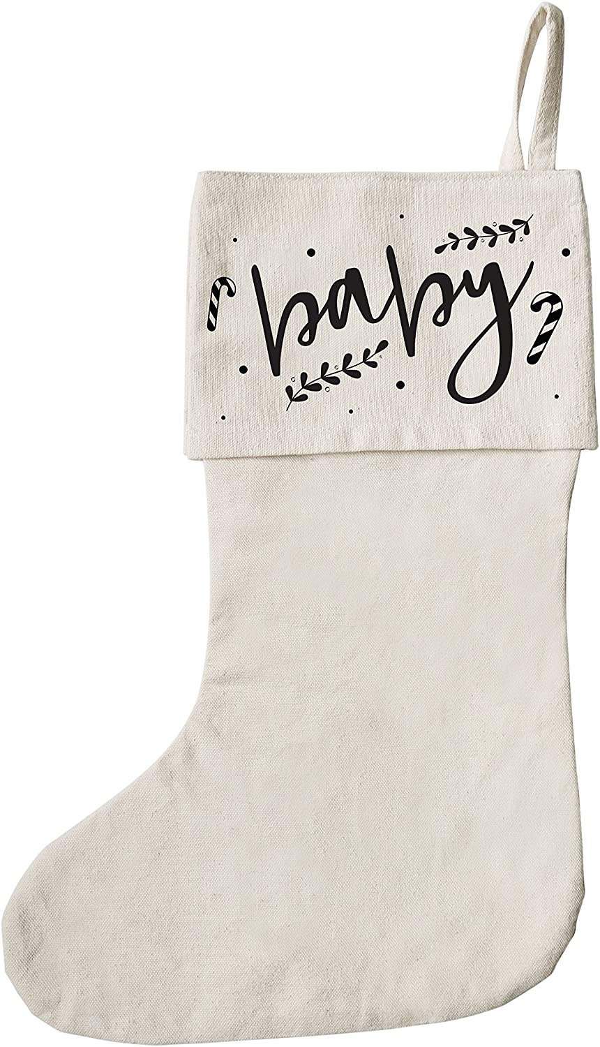 The Cotton & Canvas Co. Baby Christmas Stocking for Presents, Gift Bag, and Holiday Decorations