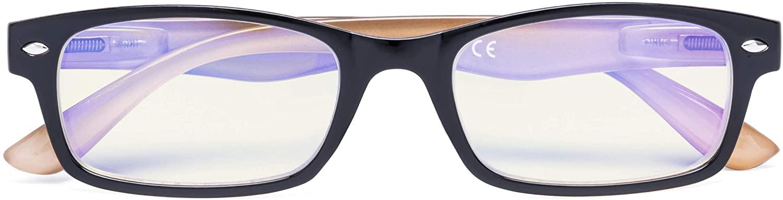 Blue Light Filter Eyeglasses,Reduce Eyestrain Readers,Anti Blue Rays,UV Protection,Computer Reading Glasses for Men Women