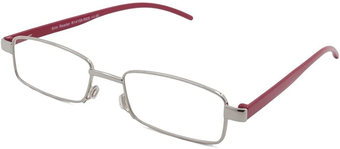 Able Vision Square Red Reading Glasses 2.75