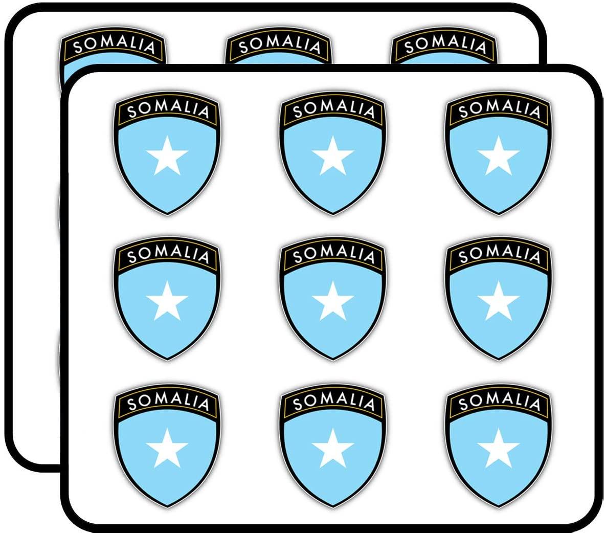 Somalia Flag Shield Label Art Decor Planner Calendar Scrapbooking Crafting Stickers 2