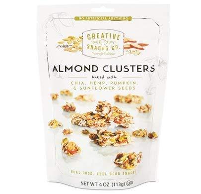 Creative Snacks, Almond Clusters, Cashews & Chia, Hemp, Pumpkin & Sunflower Seeds, 4 oz, Pack of 6