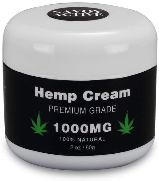 Hemp Cream - Premium Grade - 100% Natural - 1000mg - 2 Oz. / 60 G.