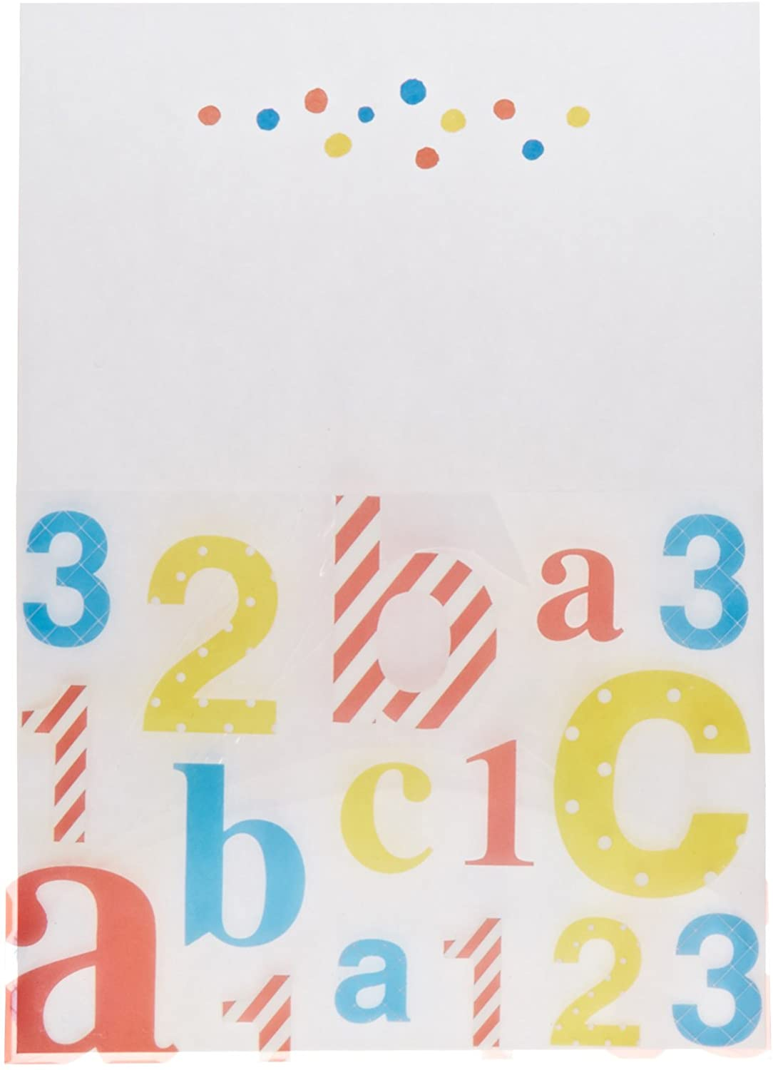 Mara-Mi ABC 123 Baby Acetate Pocket Imprintable Invitation, 10-Count (46010)