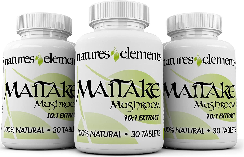 Maitake Mushroom for Immune Support - Pack of 3 - Powerful 10:1 Maitake Extract - Standardized 30% Polysaccharides - Vegetarian Safe