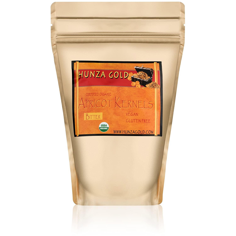 Apricot Kernels (1/2 Pound / 227 grams) Hunza Gold Bitter Certified Organic Raw