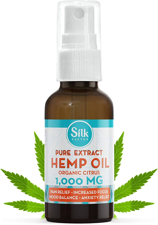 Liposomal Hemp Oil 1000mg Wild Hemp Oil Extract for Pain, Anxiety, Stress Relief and Natural Sleep Aid | Organic Hemp MCT Nano Oil | Citrus Flavor Made in USA