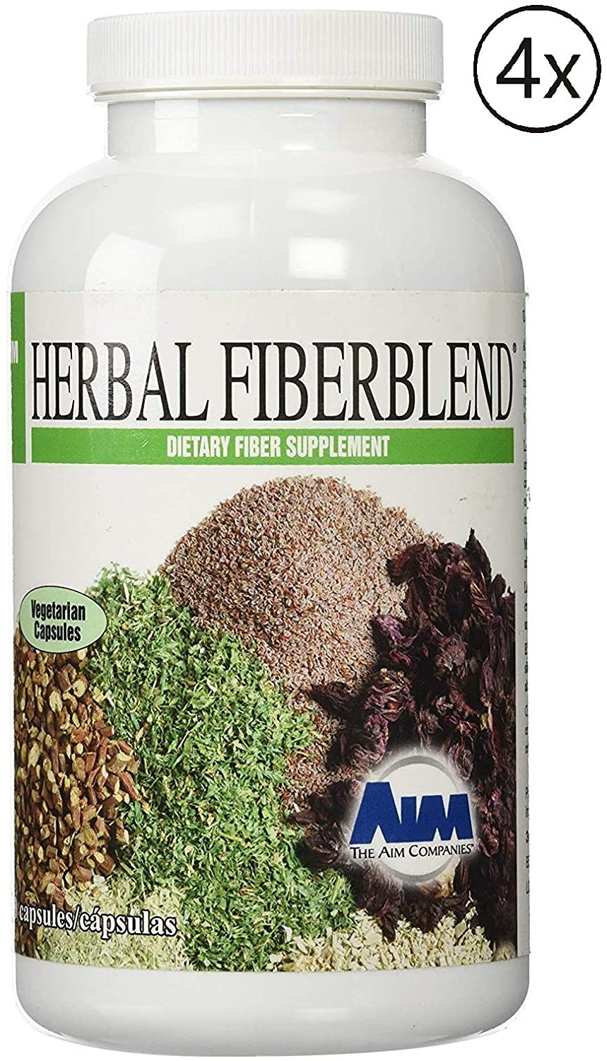 AIM Herbal Fiberblend 280 Capsules (4 Bottle) Helps Maintain Whole Body Healthy