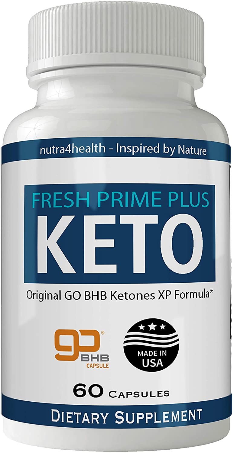 Fresh Prime Plus Keto Pills Advanced Weight Loss Supplement FreshPrime Natural Ketogenic 800 mg Formula with Original GO BHB Salts Ketone Diet Capsules to Boost Metabolism, Energy and Focus