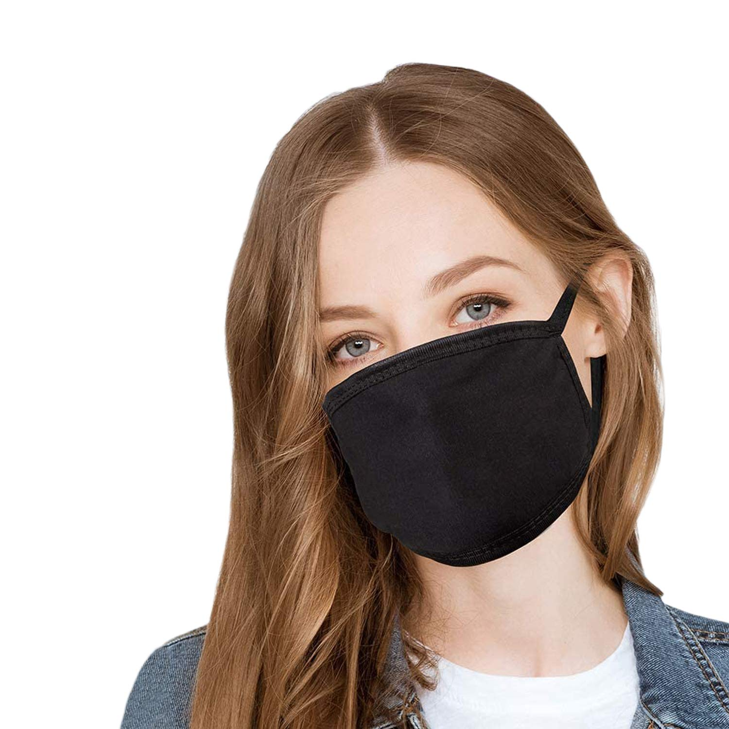 Anti_Dust Washable, Reusable Cotton Fabric Face_Mask_Cover Nose and Mouth For Unisex Adult Teen Kids Travel Cycling + 10 PCS