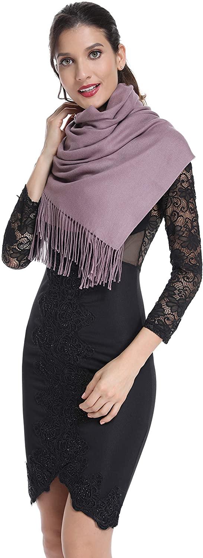 Olacia Womens Soft Pashmina Shawl Large Cashmere Feel Scarf Warm Wraps Winter Blanket Scarves 16 Colors