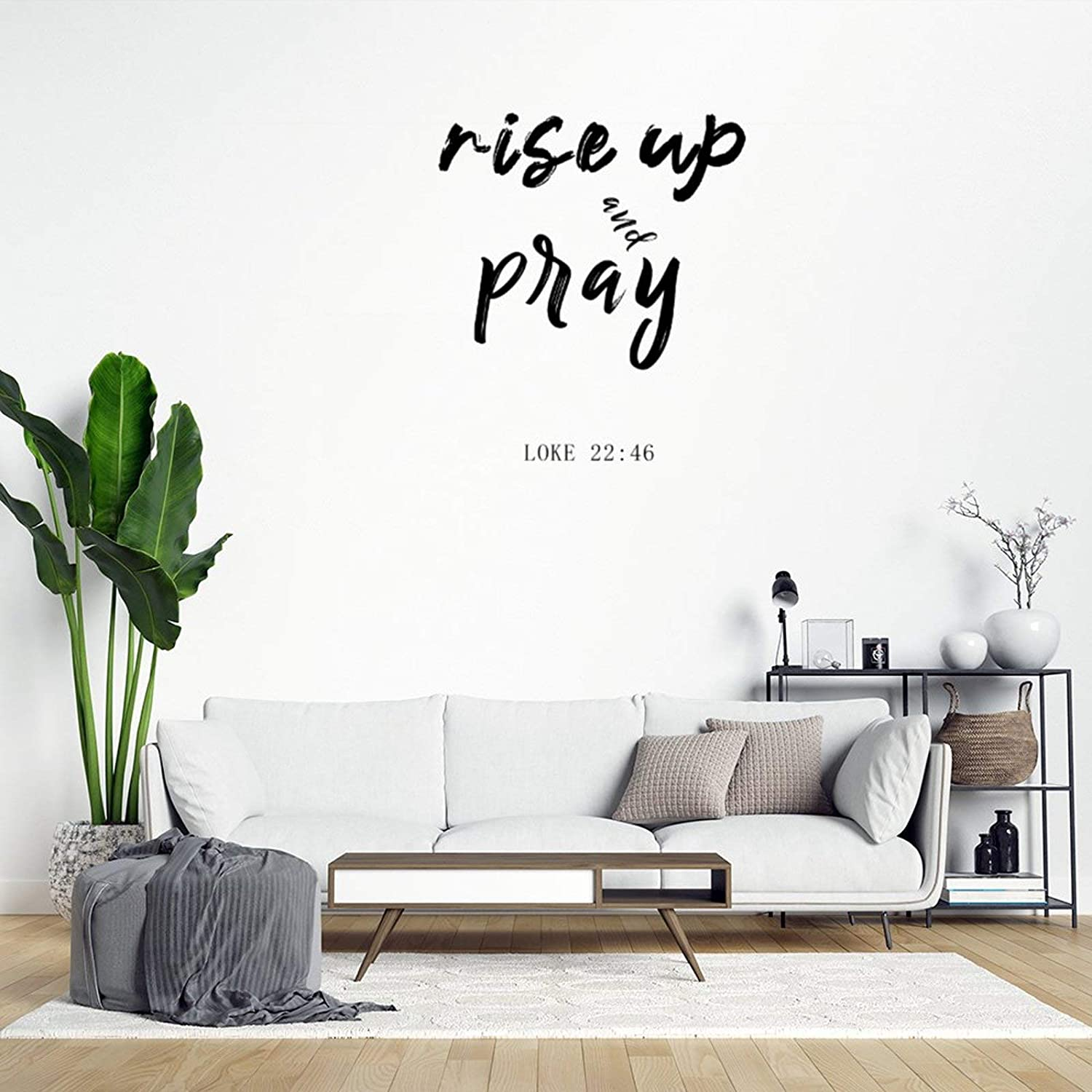 Rise Up Pray Wall Sticker,Inspirational Quotes Wall Decal Saying Family Room,Wall Art Decor for Boys Room Kids Bedroom Living Room