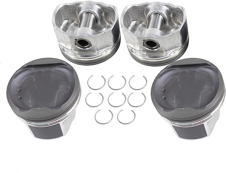 DNJ P932 Piston Set for 2006-2015 / Pontiac, Scion, Toyota/Camry, Corolla, Matrix, RAV4, Solara, tC, Vibe, xB / 2.4L / DOHC / L4 / 16V / 2362cc, 2398cc / 2AZFE