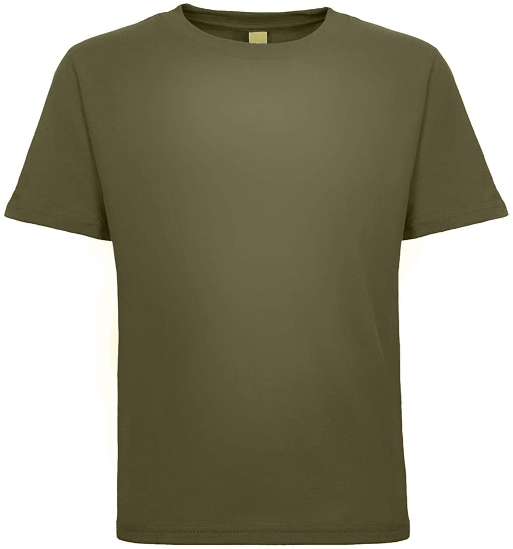 Next Level Baby-Boy's Cotton T-Shirt, Military Green, 4 Tall