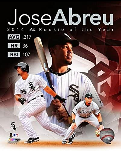 MLB Jose Abreu Chicago White Sox 2014 Rookie of The Year Photo (Size: 8