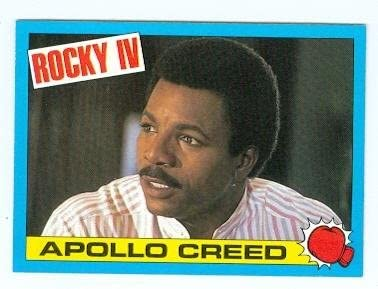 Carl Weathers as Apollo Creed trading card Rocky IV #3