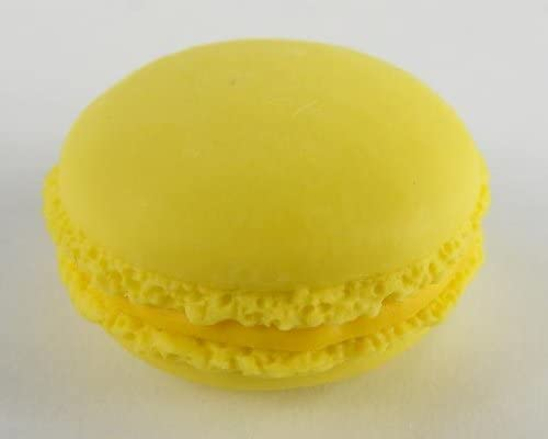 Macaroons Japanese Pastry Erasers. 2 Pack. Yellow