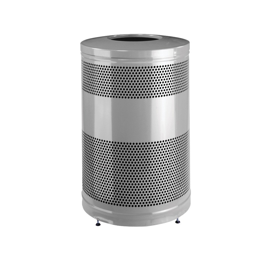 Rubbermaid Commercial Classic Trash Can, 51 Gallon, Silver Metallic, FGS55ETSMPLBK