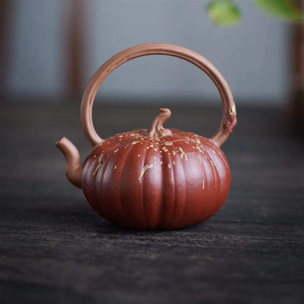SHENLIJUAN teapot ore teapot hand-ore segment eggshell pumpkin bucket of mud teapot (Color : Duan mud)