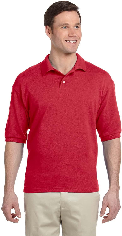 Jerzees 5.9 oz, 50/50 Piqu Polo with SpotShield (438) True Red, 3XL