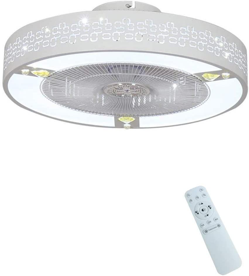 Ceiling Fan lamp Fan Light Invisible Ceiling Fan with Light led Ceiling lamp Household Invisible Living Room Fan Ceiling Fan Decoration Lighting,A