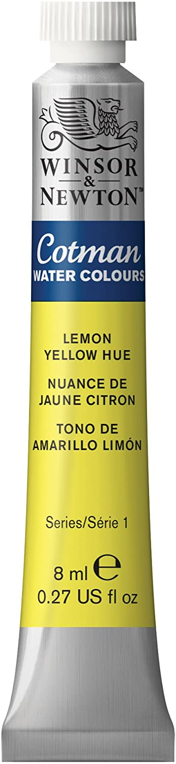 Winsor & Newton Cotman Water Colour Paint, 8ml tube, Lemon Yellow Hue