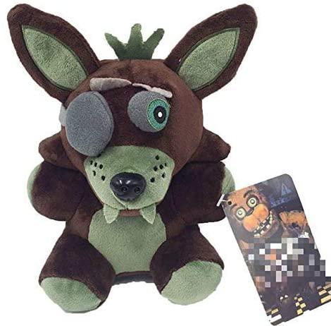 YUNZHI Plush Toys, FNAF Five Nights at Freddy's Plush Doll Stuffed Animal Plush Doll Toys - Black Fox-18cm Plush Toy