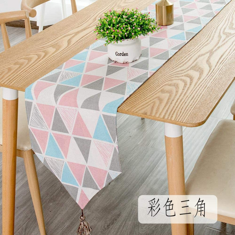 Home bathroom convenience Simple Coffee Table Table Bunting, Long Dining Table, Tea Table Fabric, Color Triangle, 30160cm (Suitable for -100120cm Table Coffee Table Cabinet)