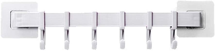 QuyWin Wall Hooks, Adhesive Hooks, Waterproof Hooks, Kitchen Bathroom Storage Hook Holder Wall Door Hanger Rack Towel Spoon Organizer for Kitchen Bathroom Office White