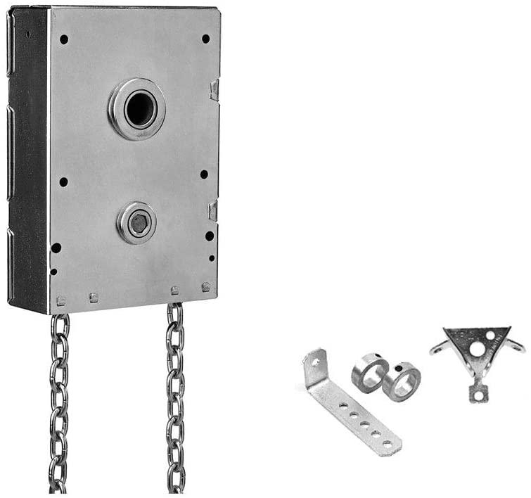 Garage Door Chain Hoist 4.5:1 Gear Reduction Jack Shaft Mounted (1.25 Inch Shaft)