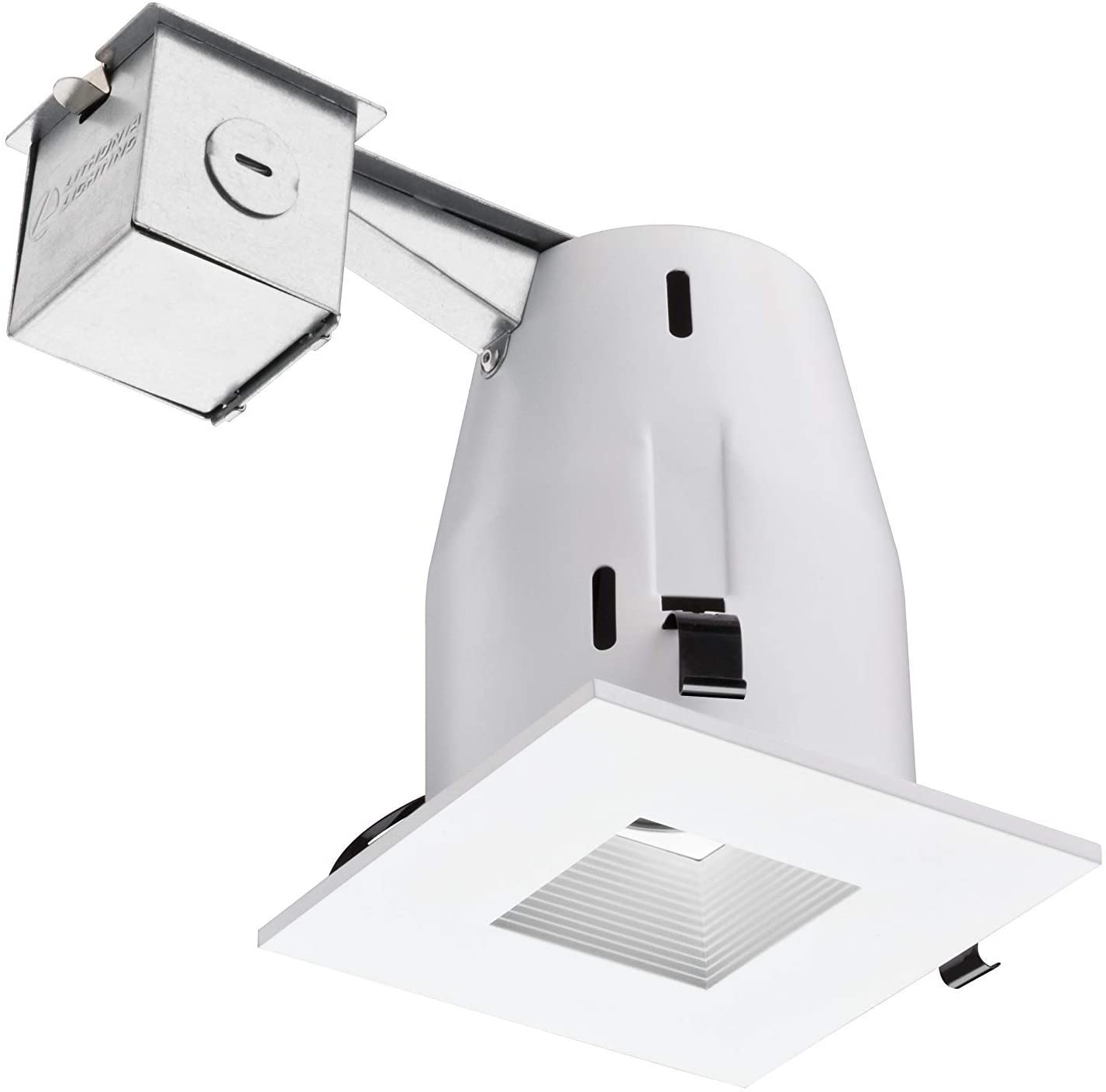 Lithonia Lighting LK4SQMW M6 Square 4 Inch Kit with Halogen Lamp Included in White