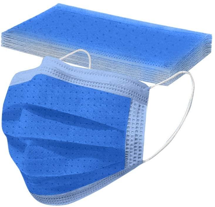 Yck-SAiu Adult Disposable Facemask, Skin Friendiy 3 Layer Protection 10 Pack