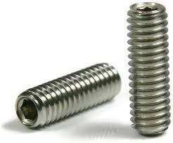 M4-.7 X 30 Socket Set Screw Cup Point Stainless Steel Qty 100